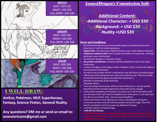 Commisions 2019 Open! by AnansiDragon