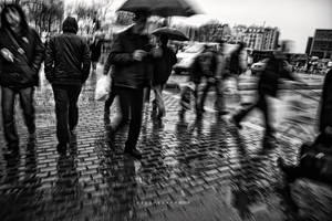 It was a rainy day :.