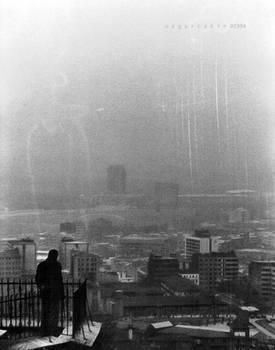 city in gray