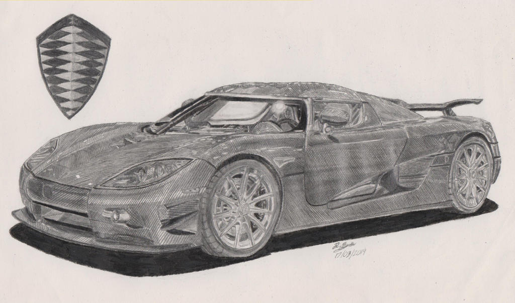 how to draw a koenigsegg