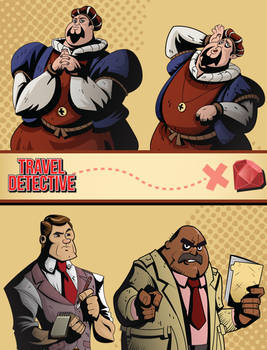 Travel Detective Characters #3
