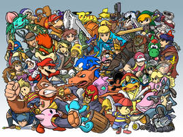 Super Smash Bros. Brawl by tippedchair