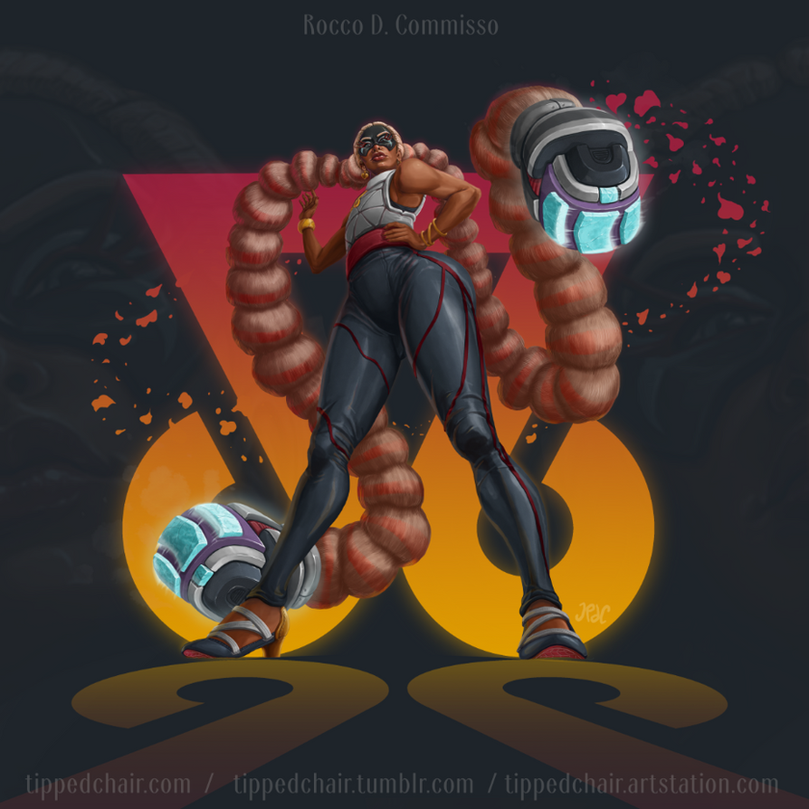 Twintelle - Nintendo Arms by tippedchair