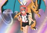 Pokemon Trainer Kei Rei by silverdrake-style