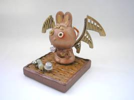 Rabbit sculpture by pushok1983