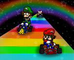 Rainbow Road SNES