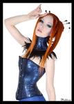 Corset bleu by Yevdhora