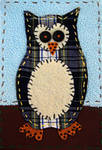 Fabricollage Owl