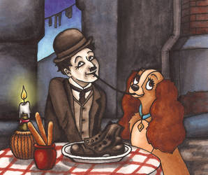 Lady and the Little Tramp by MadeleiZoo