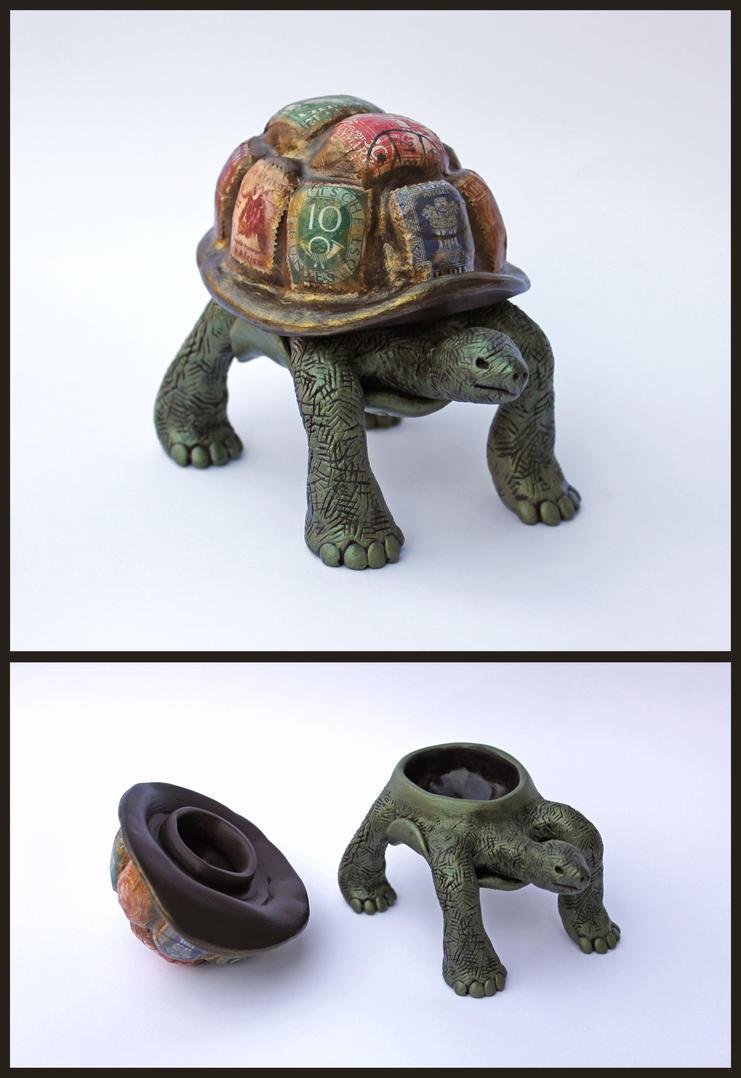 World Tortoise Keepsake Box by Madelei