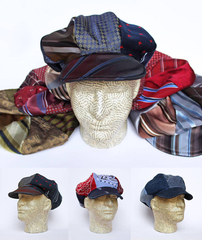75e6bbbd6ebb1 Recycled Reversible Newsboy Hats - Made to Order! by MadeleiZoo on ...