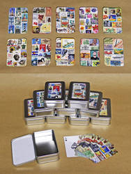 Personalized Postage Stamp Playing Cards by MadeleiZoo
