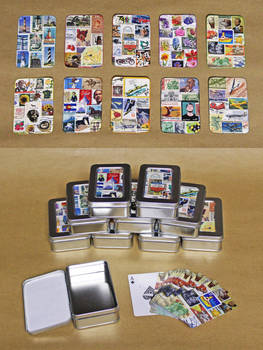 Personalized Postage Stamp Playing Cards