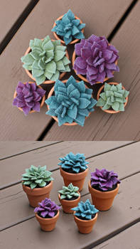 Handmade Felt Succulents!