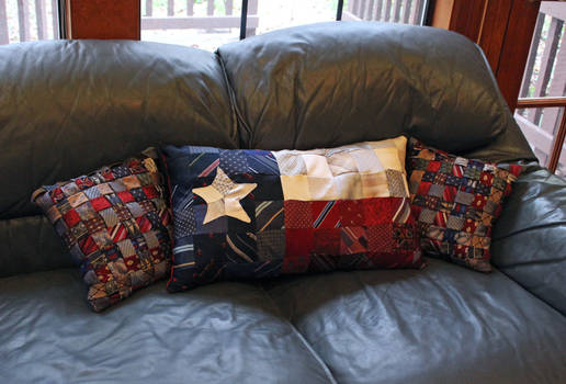 Recycled Necktie Pillows