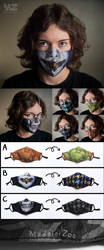 Original MadeleiZoo Printed Face Masks!! by MadeleiZoo