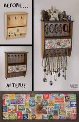 Jewelry Rack Makeover!