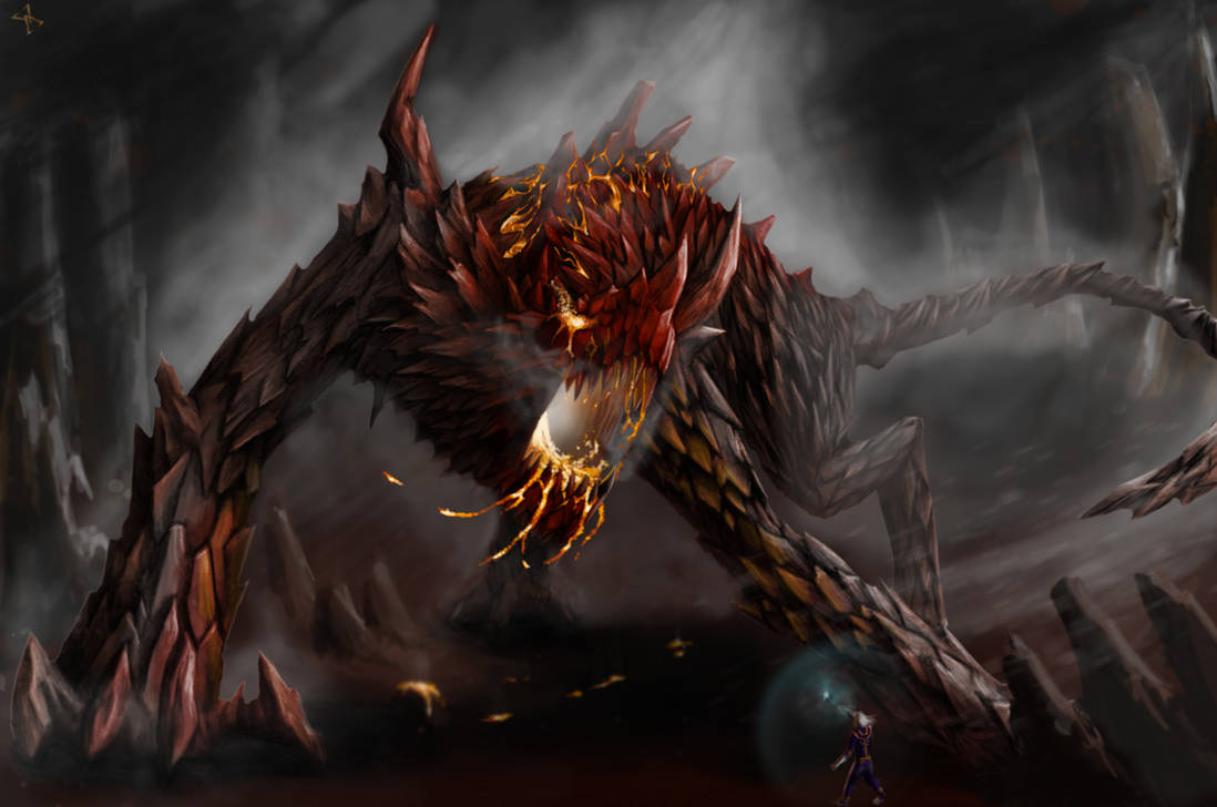 Koshak  Fire Colossus by DeathBlacker