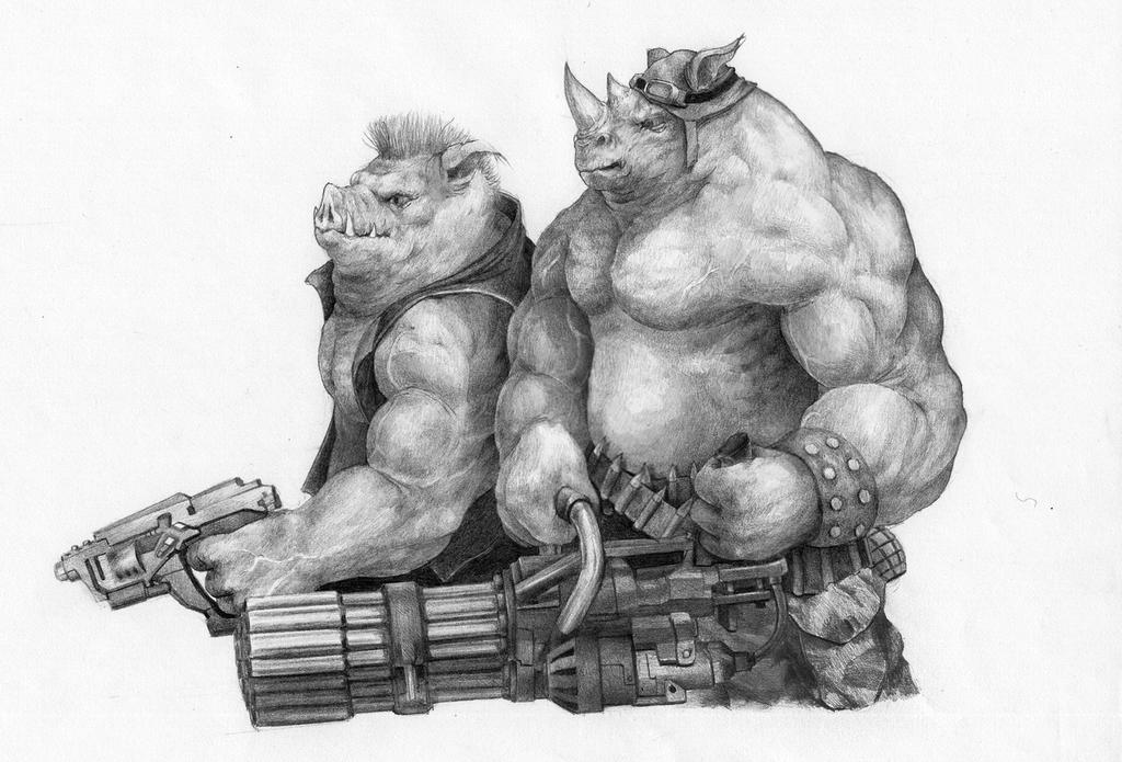 Bebob and Rocksteady by DeathBlacker