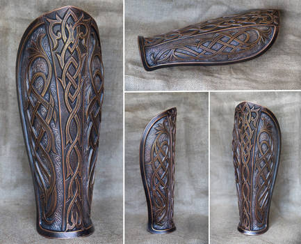 New leg plate piece for fantasy LARP games