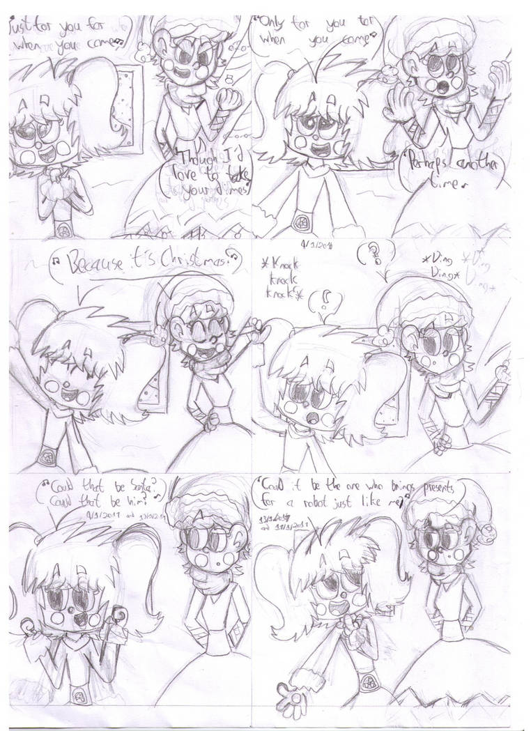 Oh Santa!' FNAF SL Silly Songs With Baby Pg 7 by