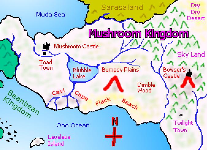 Mushroom World Map.Western Mushroom Kingdom Map By Walkazo On Deviantart