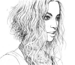 Beyonce Sketch by TinaFuresz