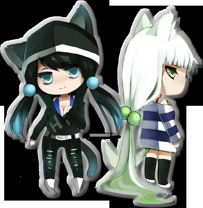 Mini Aki and Lexi 8D by akirakirai