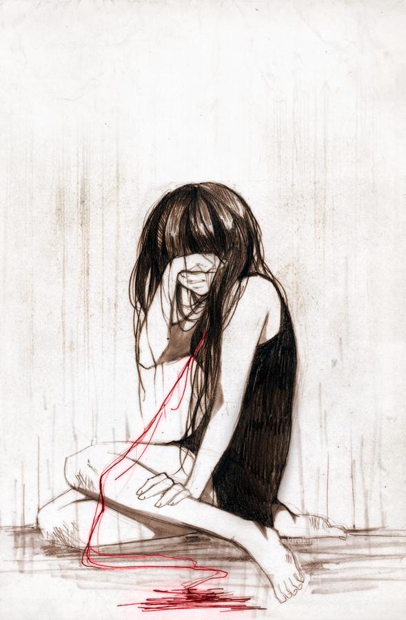Crying by akirakirai