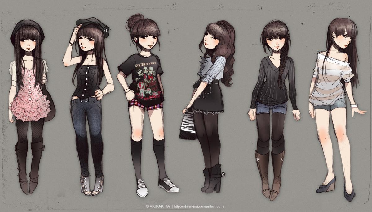 Outfits 1 by akirakirai