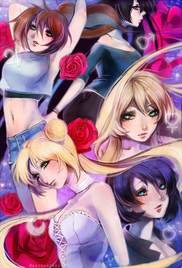 Sailor Senshi! [quickpaint] by akirakirai