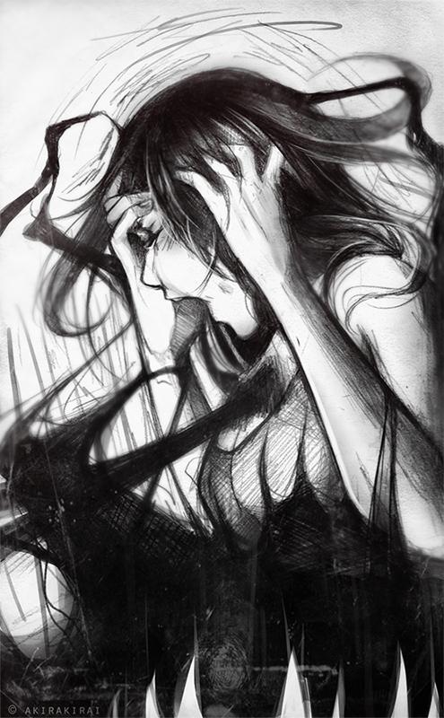 Anger, frustration by akirakirai