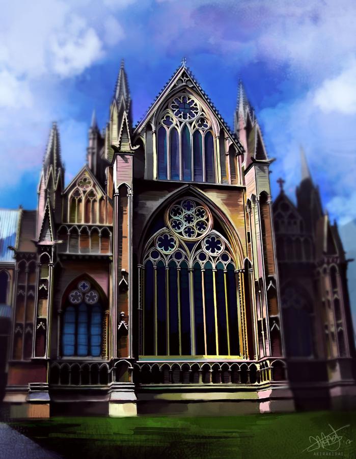 Cathedral Practice Paint by akirakirai