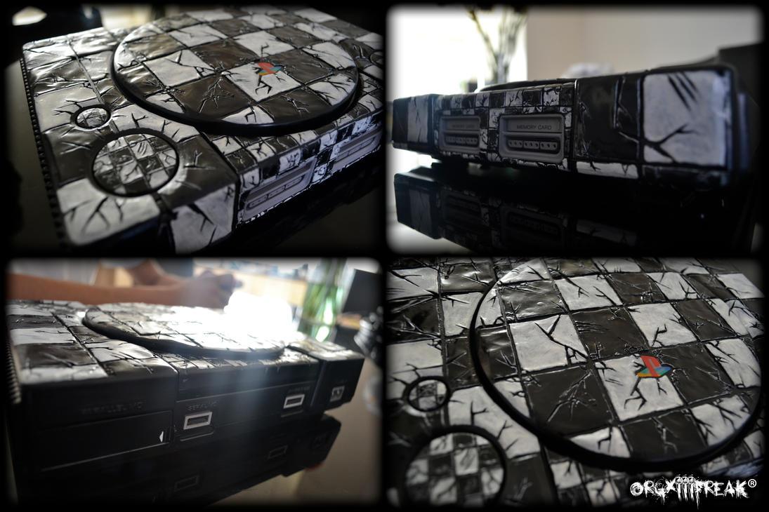 +Custom ''Checkmate'' Playstation 1+ by orgxiiifreak