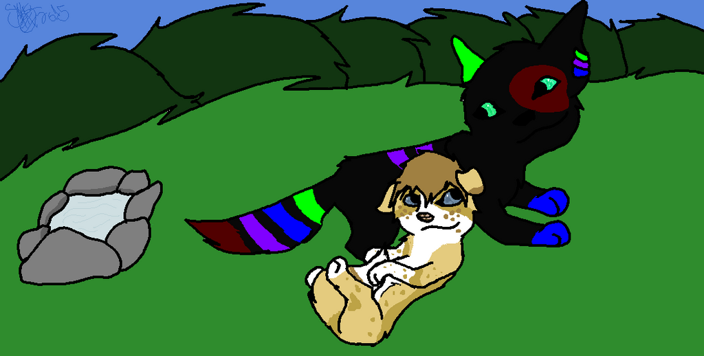 Nexon and Saz chillin' by biggywoot