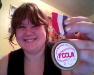 My Gold Medal i got at Comp by Luna-Irie-Night