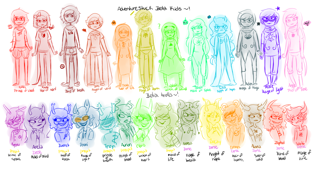 AS: Beta characters by sariasong64