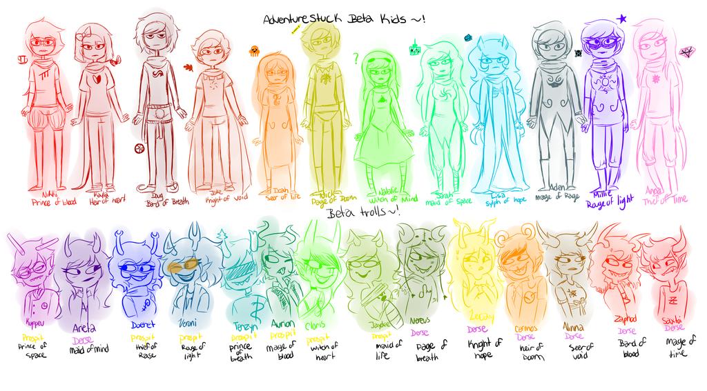 AS: Beta characters by sariasong64