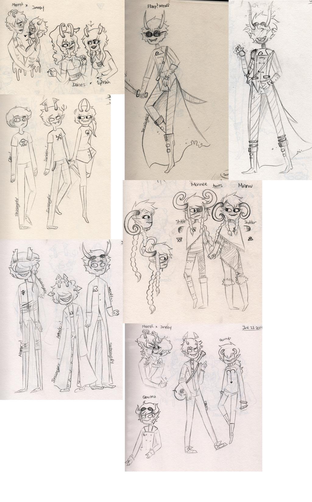 Sketchbook Dump WOOp by sariasong64