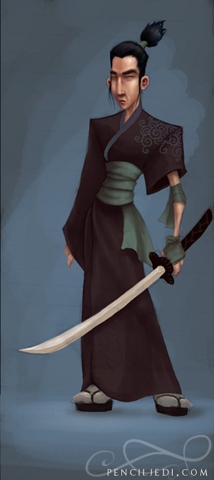 Samurai Man by fractal-inversion