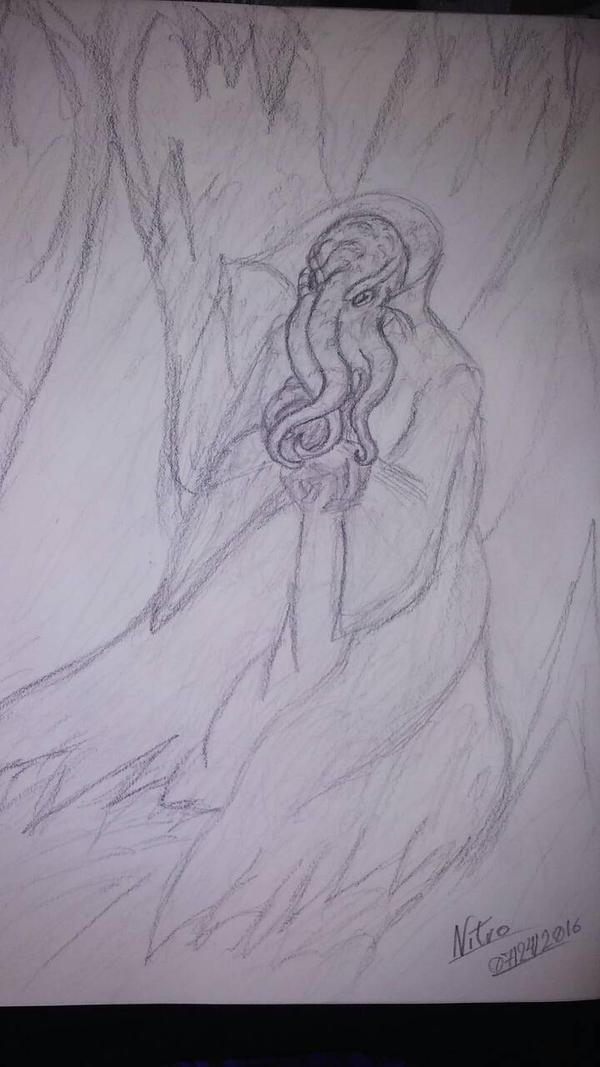 Lllithid/Mind flayer by DarkDragonknight7