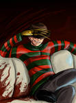 Freddy Krueger watches TV