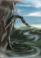Dragon in the mountain