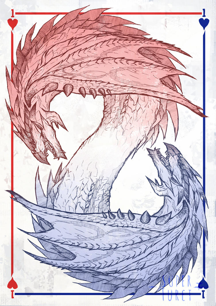 Double Rathalos  Wip by Super-Furet