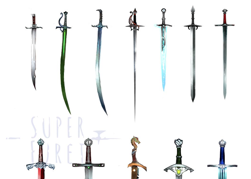 fantasy sword designs by Super-Furet