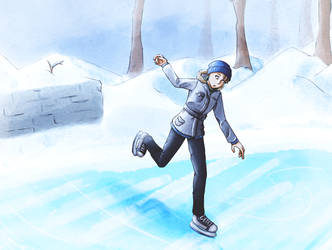 Ice Skating by TardisGhost