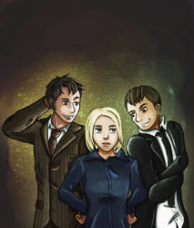 Chaos Trio (Tenth Doctor | The Master | Rose) [DW] by TardisGhost