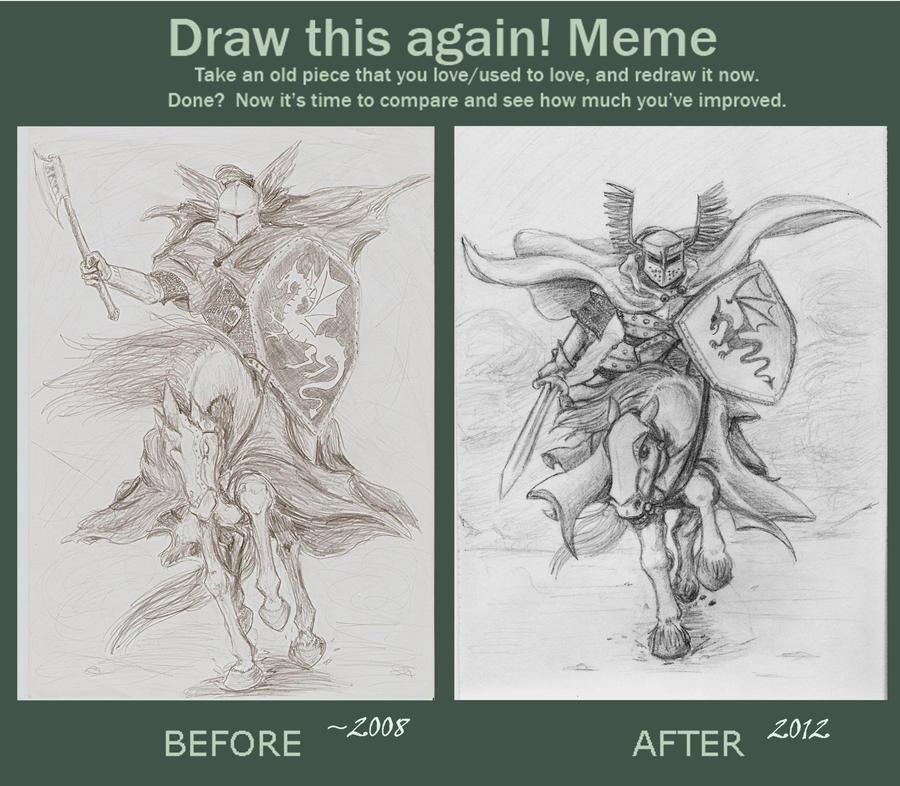 Draw This Again: a knight by Deorwyn