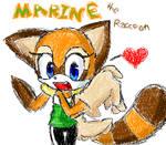 Marine the Raccoon - MS Paint