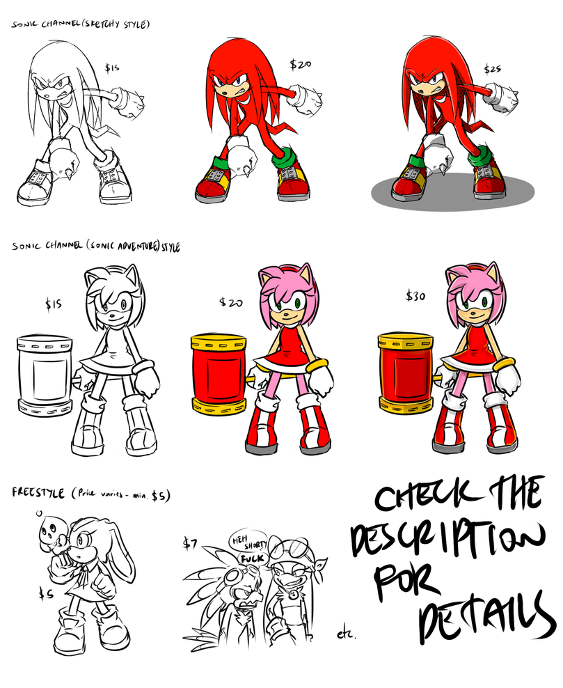 COMMISSION INFO (SONIC) by Amaranth-Pink
